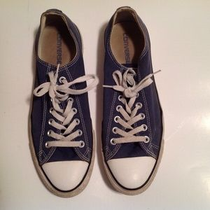 Converse All Stars Men's Blue Low Top Size 10